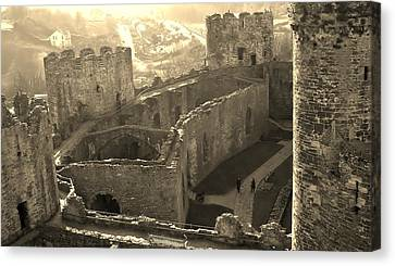 Conwy Castle Canvas Print by Richard Brookes