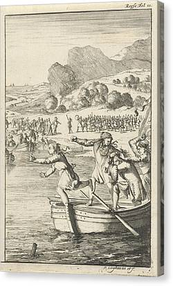 Rowboat Canvas Print - Cook Of Marie-catherine Daulnoy Arguing On A Rowboat by Quint Lox