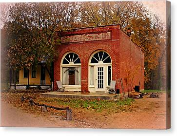Cook Station Bank Canvas Print by Marty Koch