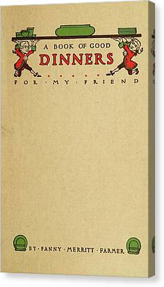 Cookbook, 1914 Canvas Print by Granger