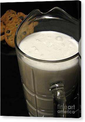 Cookies And Milk Canvas Print by Peter Piatt