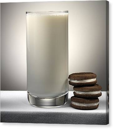 Cookies And Milk Canvas Print by Robert Mollett