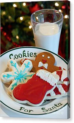 Cookies For Santa  Canvas Print by Amy Cicconi