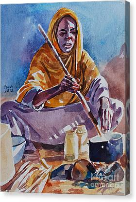 Canvas Print - Cooking Morning by Mohamed Fadul