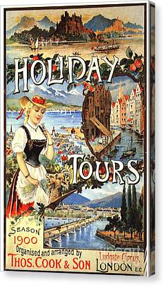 Cook�s 1890s Uk Holidays Holiday Canvas Print by The Advertising Archives