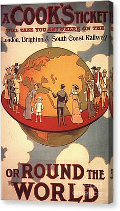 Cook�s 1890s Uk Holidays Thomas Cook Canvas Print by The Advertising Archives