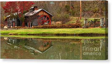 Cook's Mill Forge Building Panorama Canvas Print