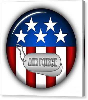 Cool Air Force Insignia Canvas Print by Pamela Johnson