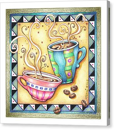 Cool Beans Canvas Print by Pop Art Diva