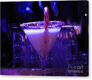 Cool Blue Cocktail Canvas Print by Kym Backland