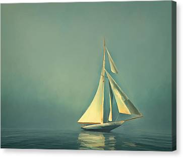 Cool Blue Sea Canvas Print by Lonnie Christopher
