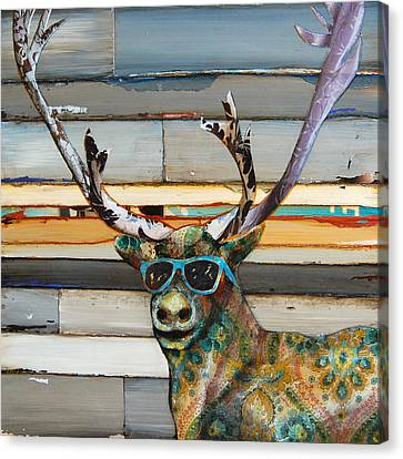 Cool Caribou Canvas Print by Danny Phillips