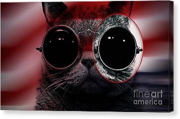 Cool Cat Painting Canvas Print by Marvin Blaine