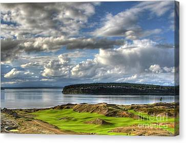 Canvas Print featuring the photograph Cool Clouds - Chambers Bay Golf Course by Chris Anderson