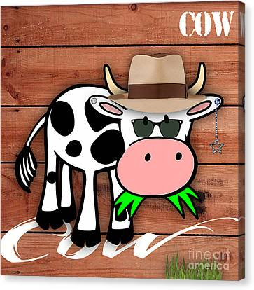 Cool Cow Collection Canvas Print