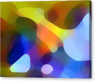 Cool Dappled Light Canvas Print by Amy Vangsgard