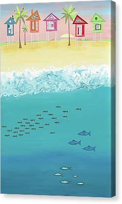Cool For School Canvas Print by Jennifer Peck