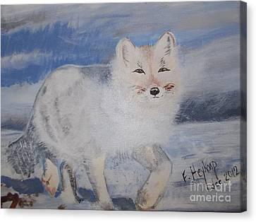 Cool Fox Canvas Print by Francine Heykoop