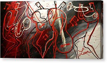 Avant Garde Jazz Canvas Print - Cool Jazz 2 by Leon Zernitsky