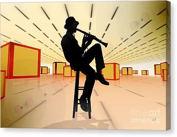Cool Jazz 3 Canvas Print by Bedros Awak