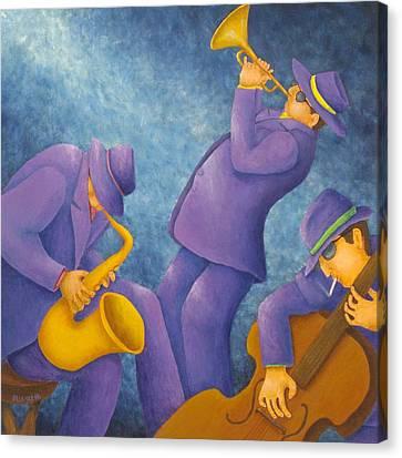 Cool Jazz Trio Canvas Print by Pamela Allegretto