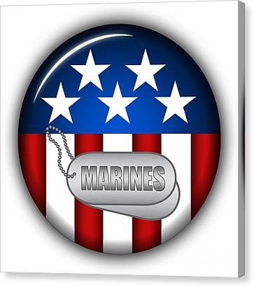Cool Marines Insignia Canvas Print by Pamela Johnson