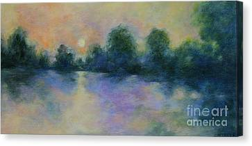 Cool Morning Canvas Print by Alison Caltrider