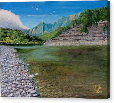 Cool River Canvas Print by James Taylor