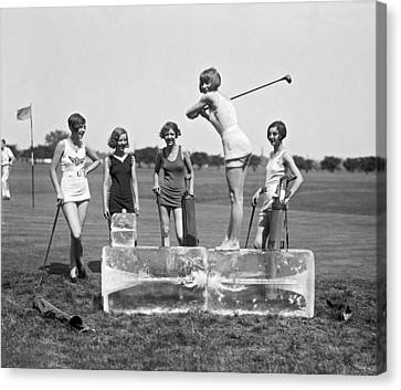 Cool Tee Time Canvas Print by Underwood Archives