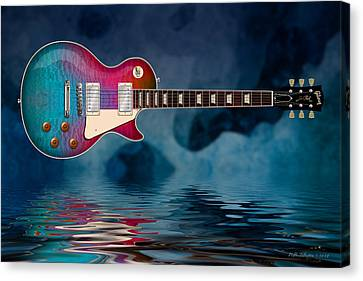 Cool Tiedye Les Paul Canvas Print