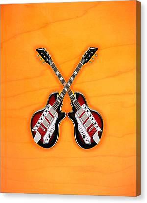 Cool Vintage Guitar Canvas Print by Doron Mafdoos