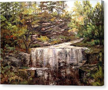 Cool Waterfall Canvas Print by Dorothy Maier