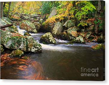 Cool Waters Of Autumn Canvas Print by Darren Fisher
