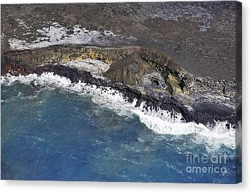 Cooled Lava Fields By Pacific Ocean Canvas Print by Sami Sarkis