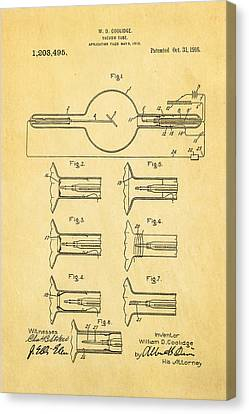 Coolidge X-ray Tube Patent Art 1913 Canvas Print by Ian Monk