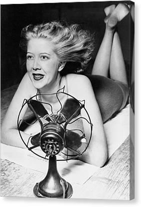 Cooling Fan For Hot Spell Canvas Print by Joe Denarie