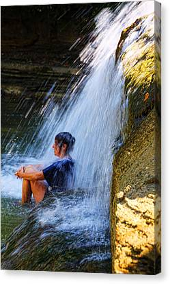 Cooling Off At Stony Brook State Park Canvas Print