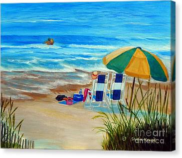 Canvas Print featuring the painting Cooling Off by Shelia Kempf
