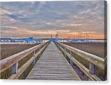 Cooper River Marina Canvas Print by Donnie Smith