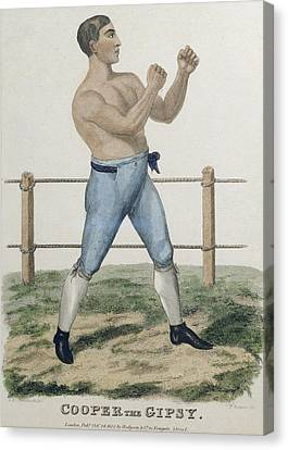 Cooper The Gipsy, Engraved By P Canvas Print by Isaac Robert Cruikshank