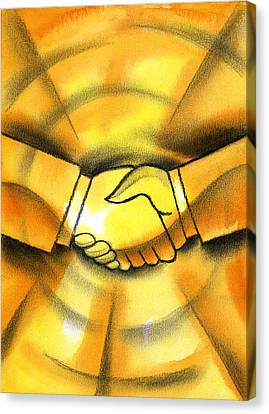 Cooperation Canvas Print by Leon Zernitsky