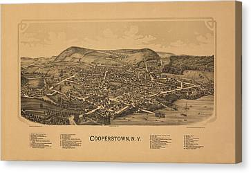 Cooperstown New York 1890 Canvas Print by Andrew Fare