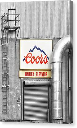 Coors Barley Elevator Bw Color Canvas Print by James BO  Insogna