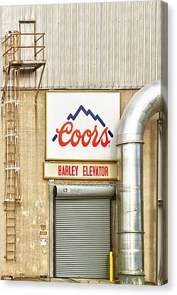 Coors Barley Elevator  Canvas Print by James BO  Insogna