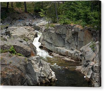 Coos Canyon In Maine Canvas Print by Catherine Gagne