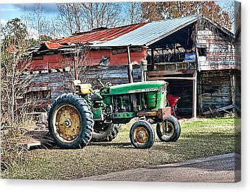 Coosaw - John Deere Tractor Canvas Print