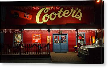 Dukes Of Hazard Show Canvas Print - Cooters At Christmas by Dan Sproul