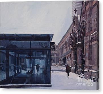 Copley Winter Canvas Print by Deb Putnam