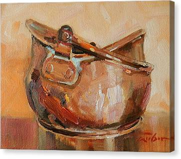 Copper Bowl Canvas Print by Ron Wilson