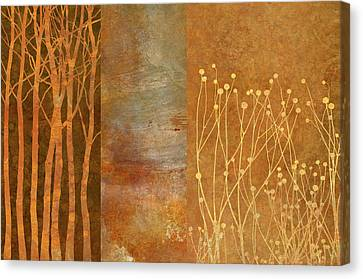 Copper Collage Canvas Print by Cora Niele